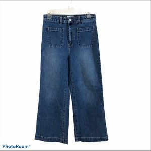 Free People Rolla Sailor Jeans High Rise Size 28